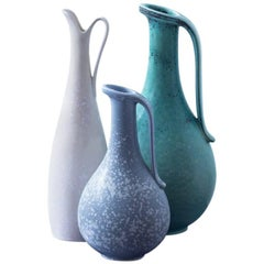 Stoneware Vases by Gunnar Nylund for Rörstrand, Sweden