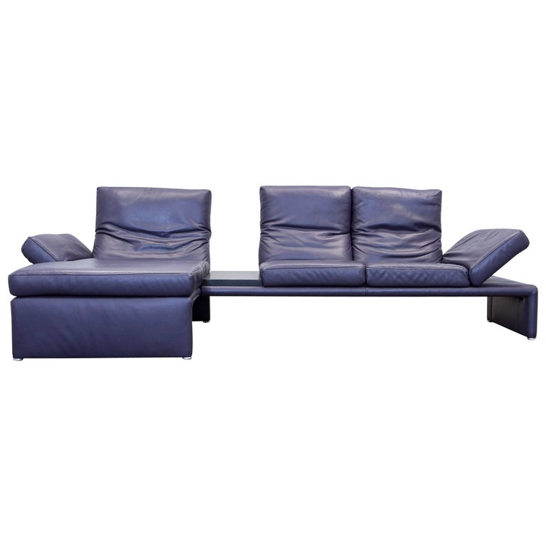 koinor raoul designer corner sofa leather aubergine lilac. Black Bedroom Furniture Sets. Home Design Ideas