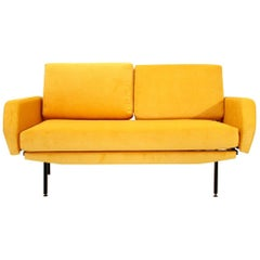 Italian Yellow Velvet Sofa Bed