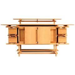 Rietveld Handmade Contemporary Wood Beech Buffet Cabinet