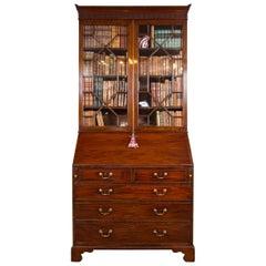 George III Slant Front Bookcase or Secretary