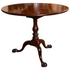 George III Mahogany Tilt-Top Side Table
