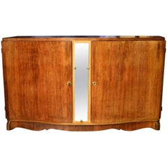 Glamorous French Art Deco Serpentine Credenza Buffet