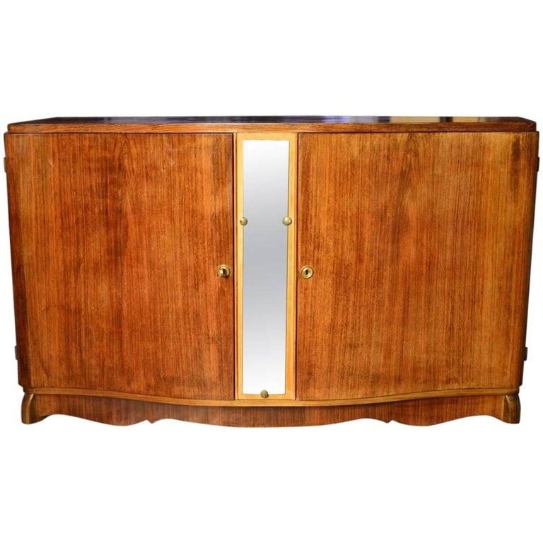Glamorous French Art Deco Serpentine Credenza Buffet