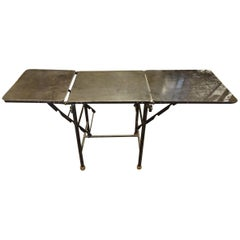 19th Century French Industrial Metal Table