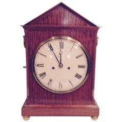 19th Century John Leach Satinwood Bracket Clock