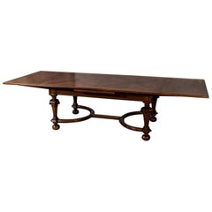 Liberty of London Quality Extending Dining Table Walnut and Oak, circa 1900