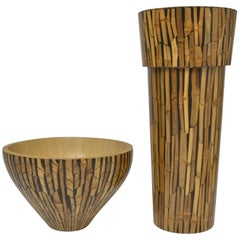 Set Bamboo Vase and Bowl R & Y Augusti