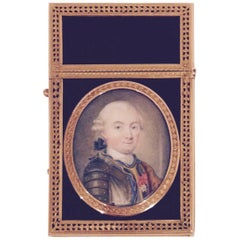 18th Century French Rochedragon Gold Carnet de Bal