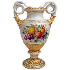 Meissen Snake Handles Vase Flowers Fruits A 148 Made 1870