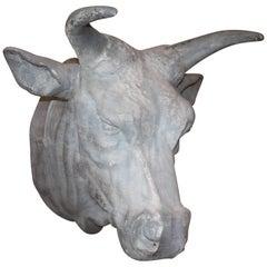 French Metal Bulls Head