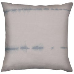 Unique Contemporary Double-Sided Stitch in Pink Mauve Handmade Linen Pillow