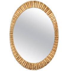 Spanish Gilt Oval Mirror