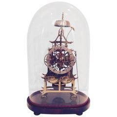 19th Century Brass Skeleton Clock
