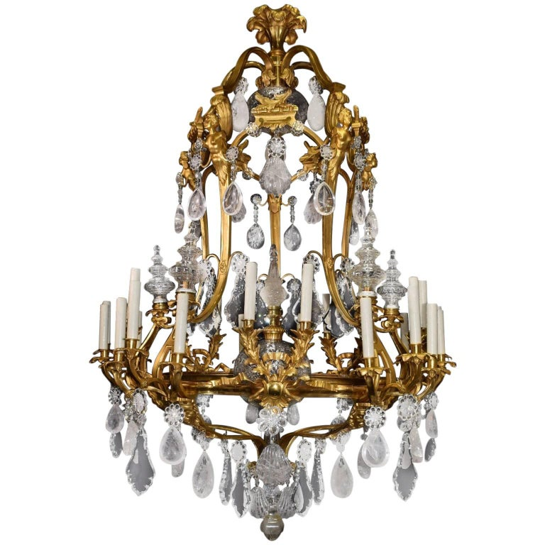 Antique rock crystal chandelier for sale at 1stdibs antique rock crystal chandelier for sale aloadofball Image collections