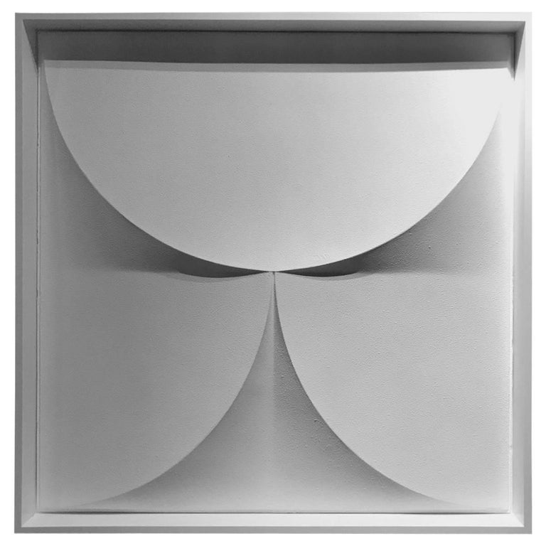 Geometric Three Dimensional Wall Sculpture, France, 1960s For Sale
