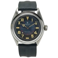 Vintage Oyster Unisex Rolex Wristwatch with California Military Dial