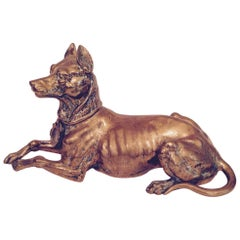 19th Century Bronze Hound