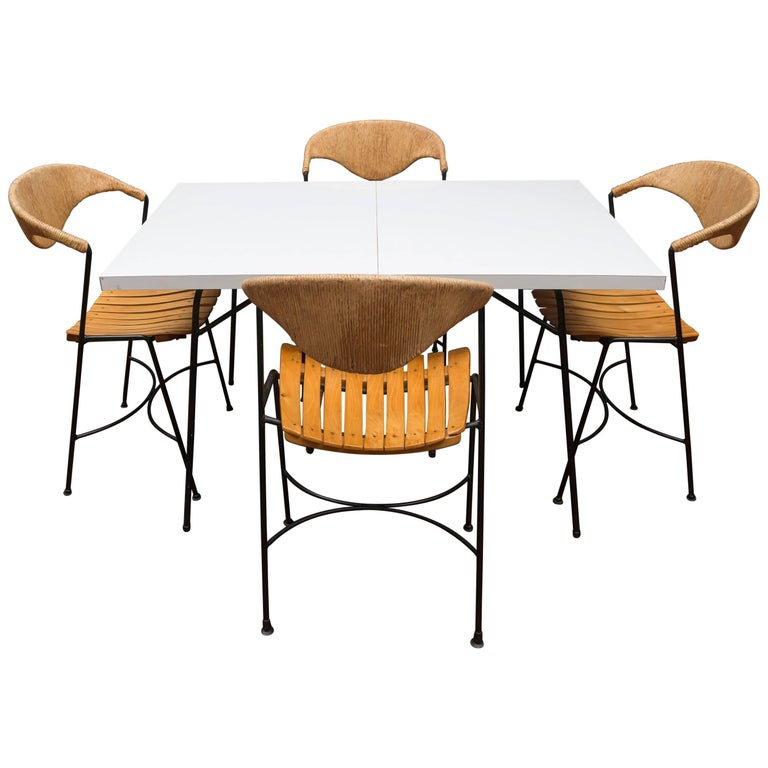 Italian Mid-Century Modern Dining Set by Arthur Umanoff For Sale
