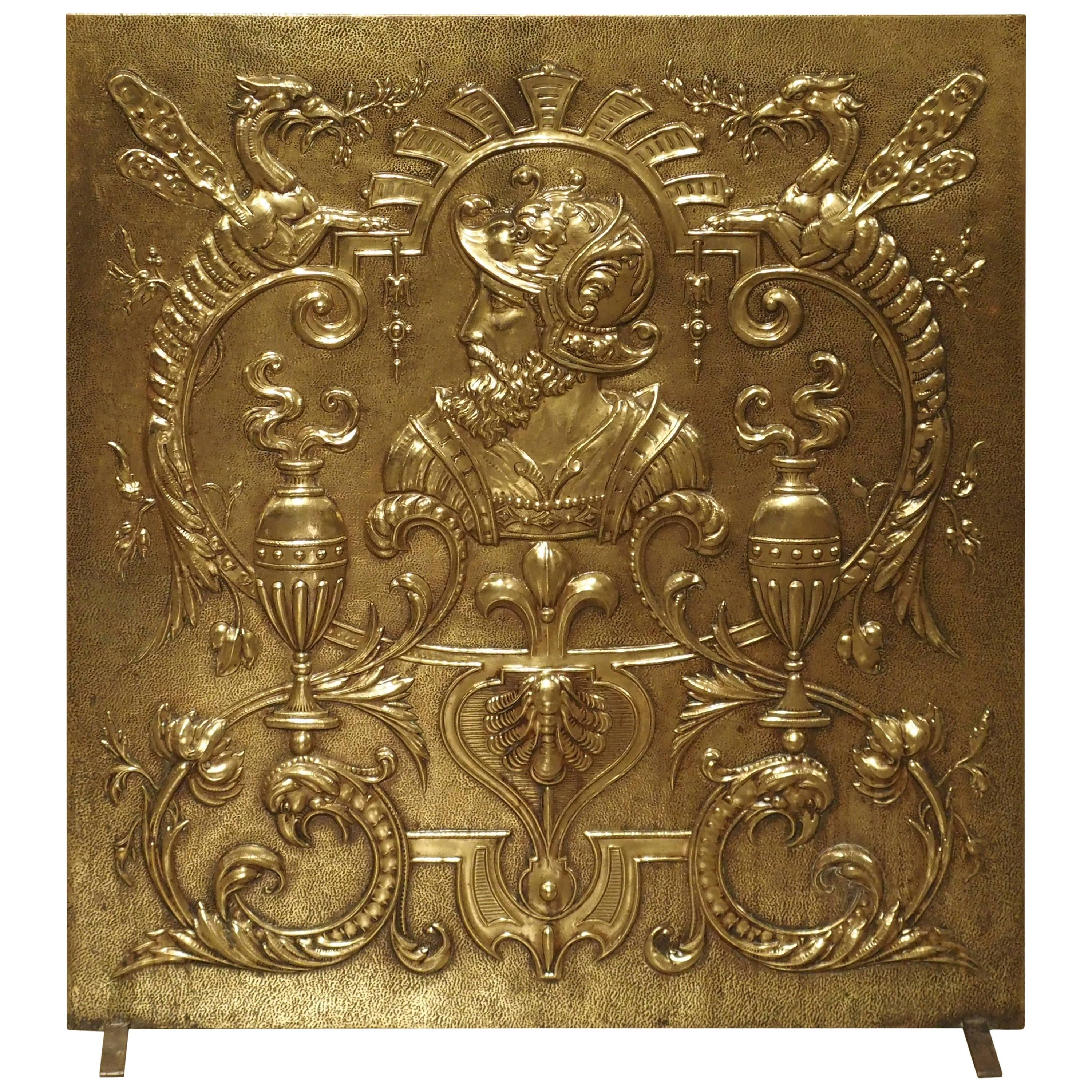 antique brass fireplace screen from france circa 1880 at 1stdibs rh 1stdibs com antique brass fireplace screen for sale cb2 antique brass fireplace screen
