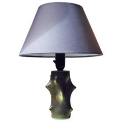 Scandinavian Modern Rose Thorn Ceramic Table Lamp by Knud Basse for Ma & Son