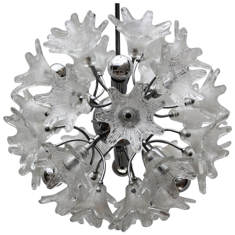 Midcentury Italian Murano Glass Sputnik Chandelier by Paolo Venini for VeArt