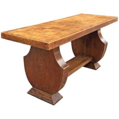 In the Style of Jean Charles Moreux, Oak Coffee Table, circa 1940