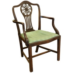 Mahogany Hepplewhite Style Carver or Desk Chair