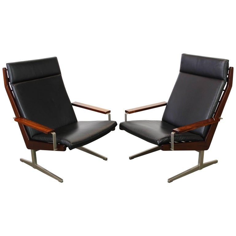 Rare Pair of Lotus Lounge Chairs by Rob Parry for Gelderland 1960 Dutch Design