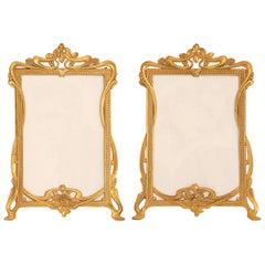 Pair of Art Nouveau Brass Picture Frames
