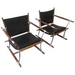Rare Pair of Stokke Rosewood Lounge Chairs by Jens Quistgaard