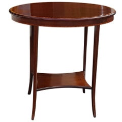 Edwardian Mahogany and Crossbanded Oval Occasional Table