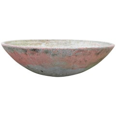 Willy Guhl Saucer Planter with Pink Paint, circa 1950