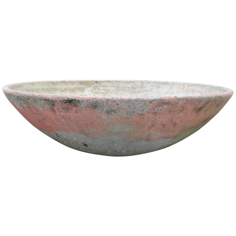 Willy Guhl Saucer Planter with Pink Paint, circa 1950 1