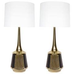 Laurel Aged Brass Lamps