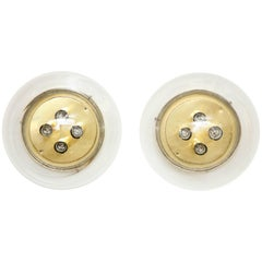 Pair of Large Sconces/Flush Mounts by Doria