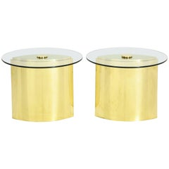 "Pair of ""Eye"" Brass Side Tables by Steve Chase"