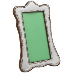 Beautiful, Edwardian Sterling Silver Picture Frame with Wood Back