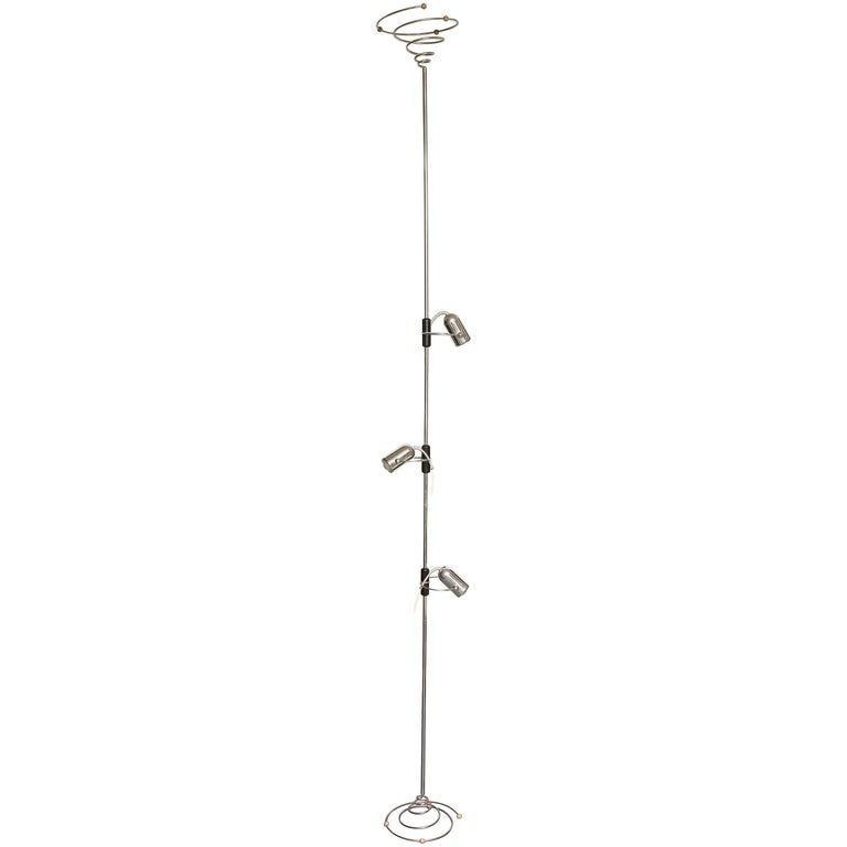 Reggiani Articulated Floor Lamp Mid-Century Modern, Italy, 1970s For Sale