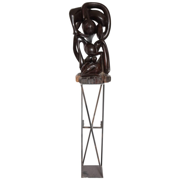 Shona  Abstract Carved Wood Sculpture Africa, 1970s 1
