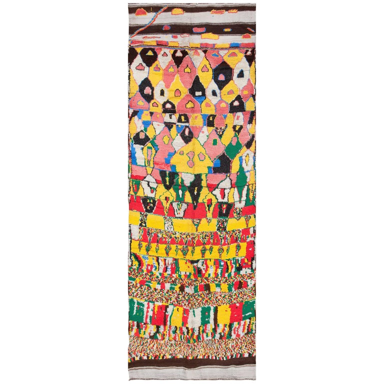 Colorful vintage midcentury style moroccan rug for sale at for Colorful rugs for sale