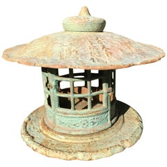 Japan Fine Vintage Hand Cast Yukimi Lantern with Exquisite Details