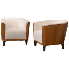 Pair of Newly Upholstered Chairs by Oscar Nilsson, circa 1935