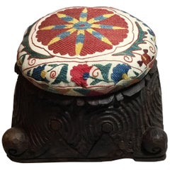 Suzani Foot Stool