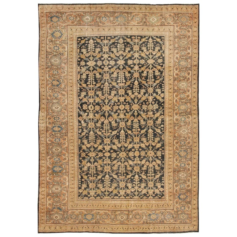 Room Size Sultanabad Antique Persian Mahal Rug