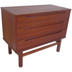 Teak Danish Three-Drawer Chest