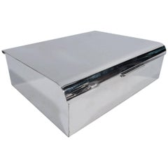 Distinctive Sterling Silver Desk Box by Cartier