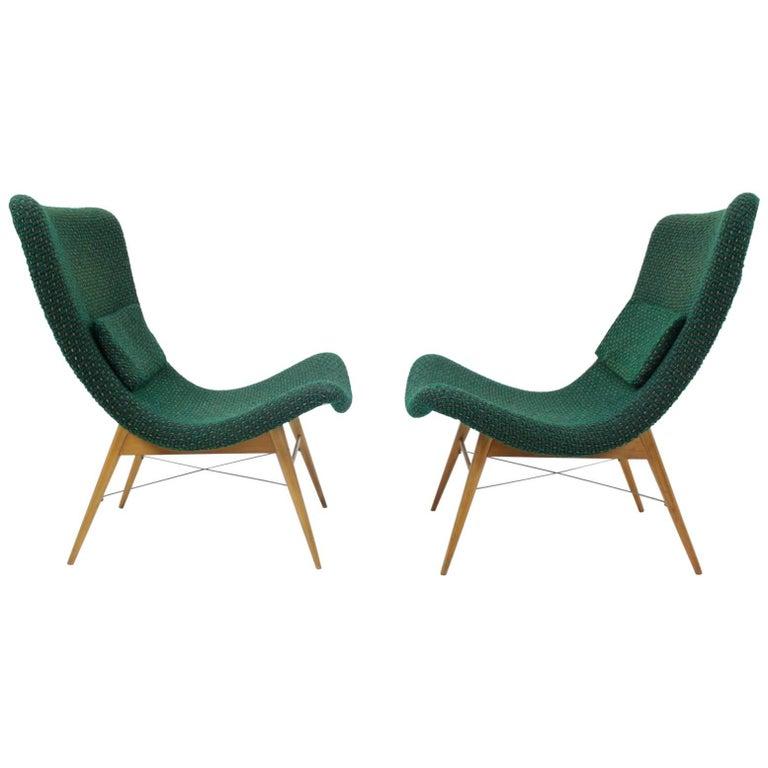 Mid-Century Lounge Chairs by Miroslav Navratil, 1960s