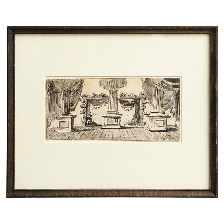 Eugene Berman Untitled Stage Design For Sale