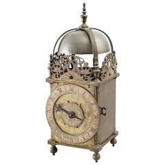 Rare Early Balance Wheel Lantern Clock by Peter Closon